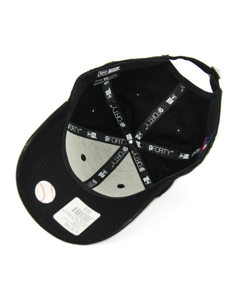 New Era Braves 9FORTY Strapback Black/black