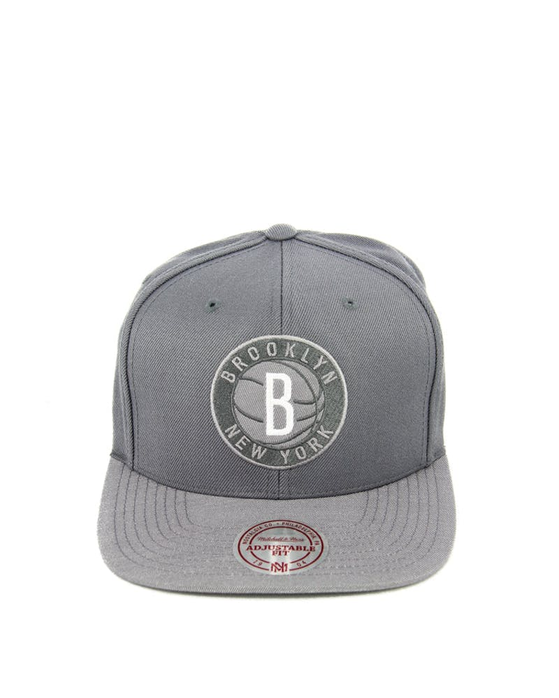 Nets Heather 2 Tone Snapback Grey Heather