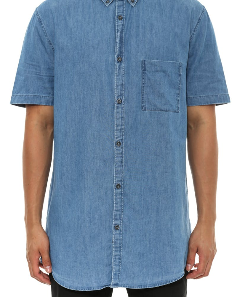 Box 7ft Short Sleeve Blue Denim