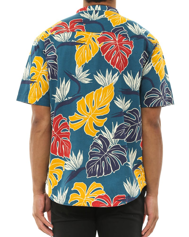 Bird of Paradise Button Up Royal