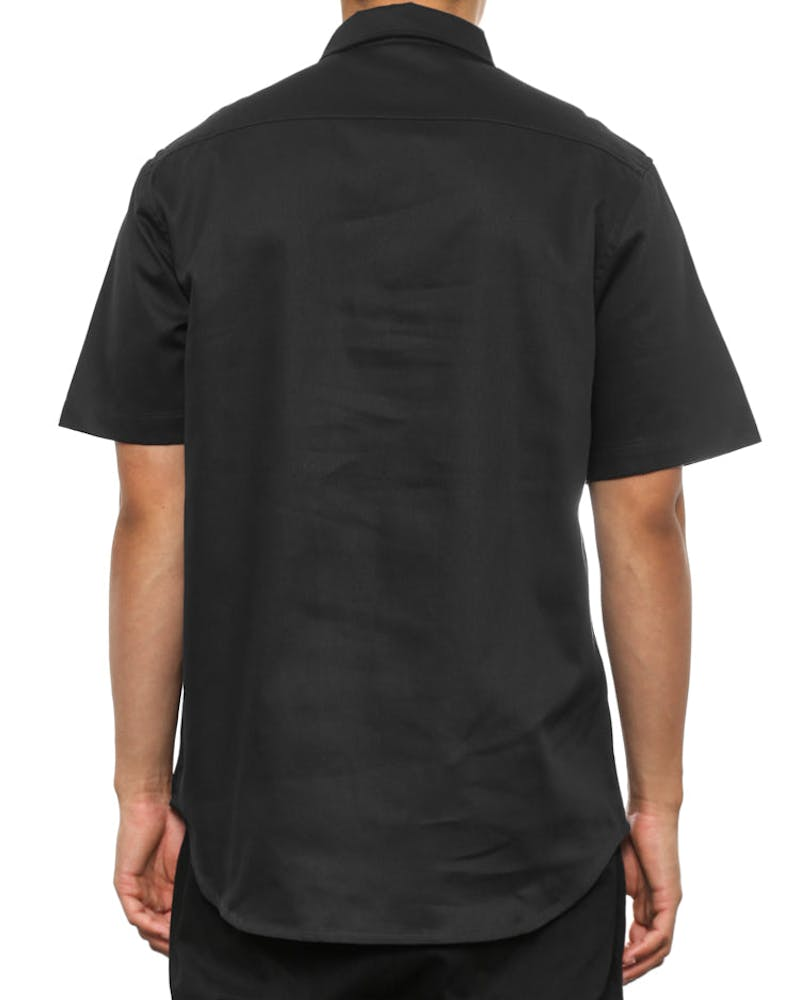 Helmet Short Sleeve Button up Black