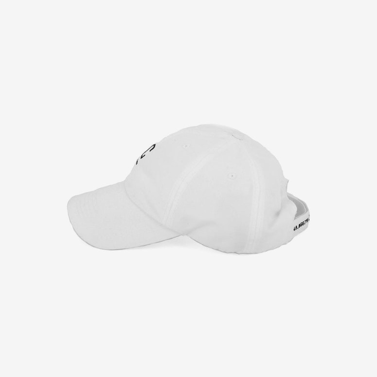 Capital C Nylon Velcro Back White