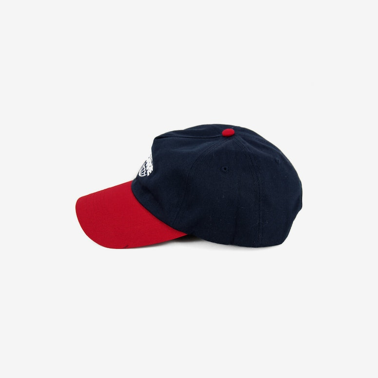 Global Precurved Strapback Navy/red