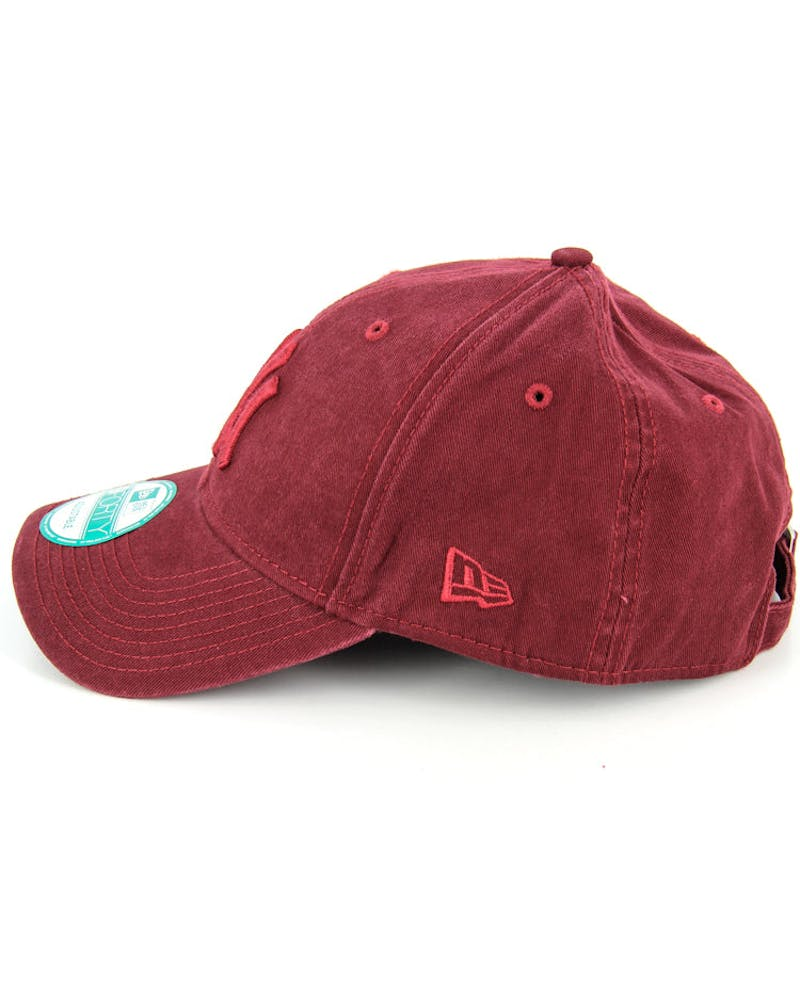 New Era Yankees Washed 9FORTY Strapback Burgundy/burgun