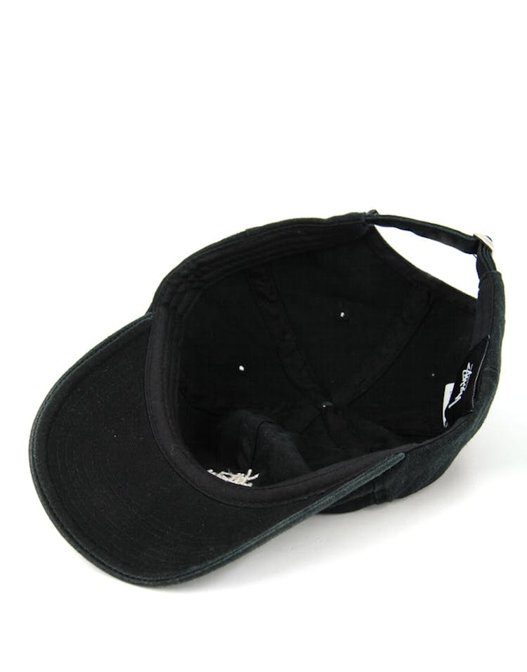 Basic Washed Strapback Black
