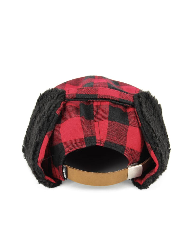 Flannel 5-panel Strapback Red