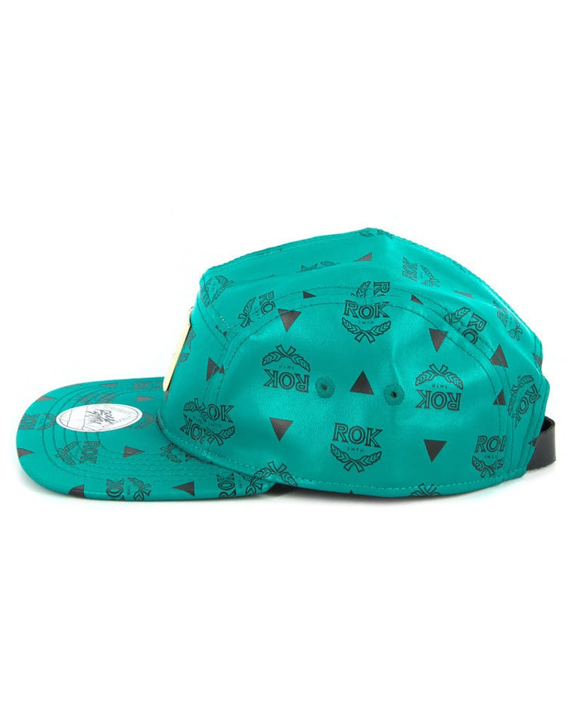 Rok Leather 5 Panel Teal