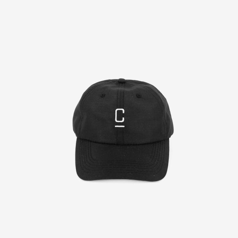 Capital C Nylon Velcro Back Black