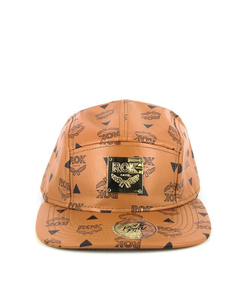 Rok Leather 5 Panel Beige