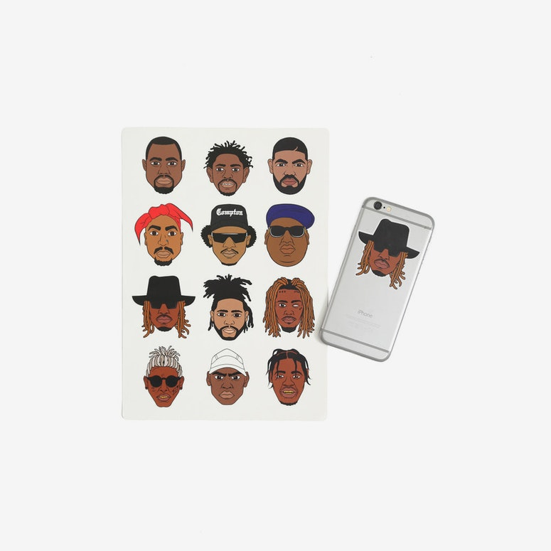 GC Rapper Head Stickers 2 Multi-coloured