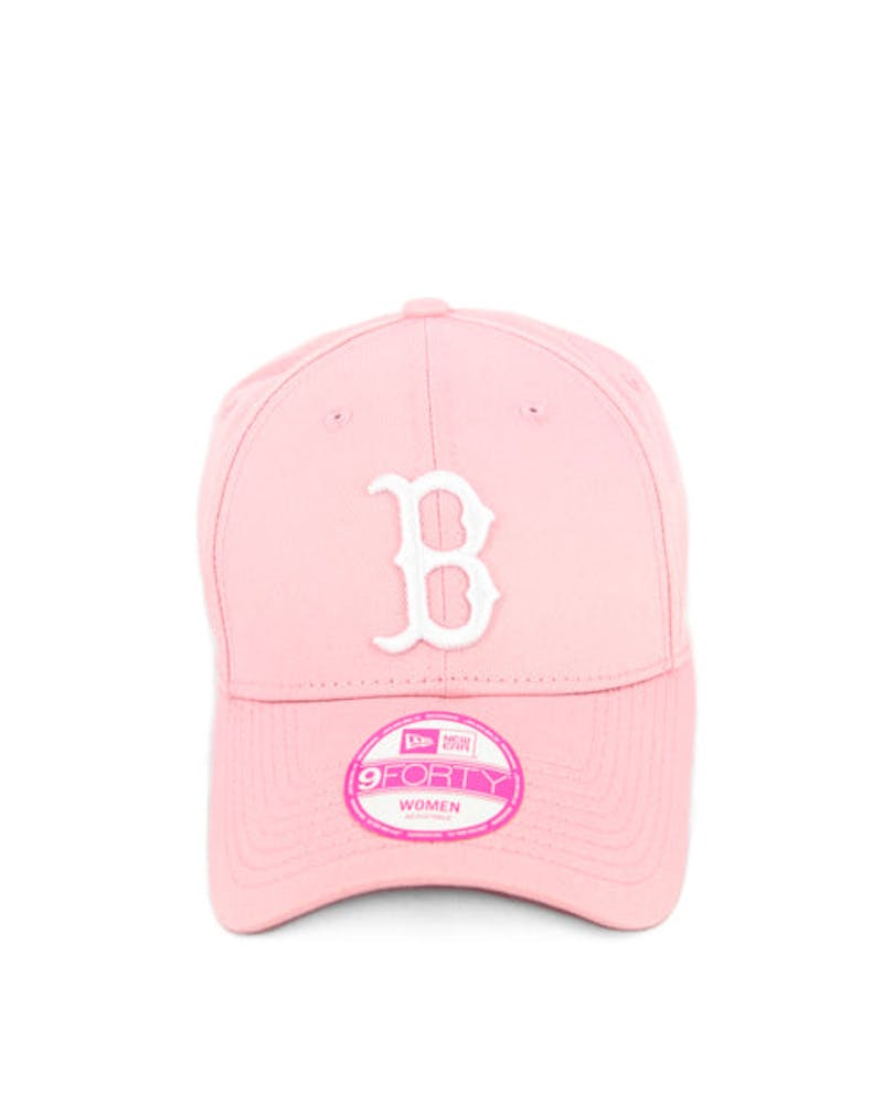 New Era Red Sox 9FORTY Strapback Pink