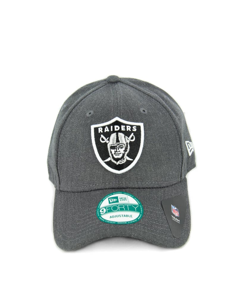 New Era Raiders 9FORTY Strapback Charcoal Heathe