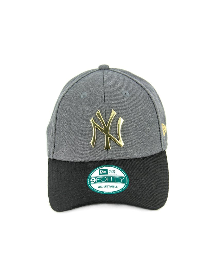 New Era Yankees 9FORTY Metal Strapback Charcoal Heathe