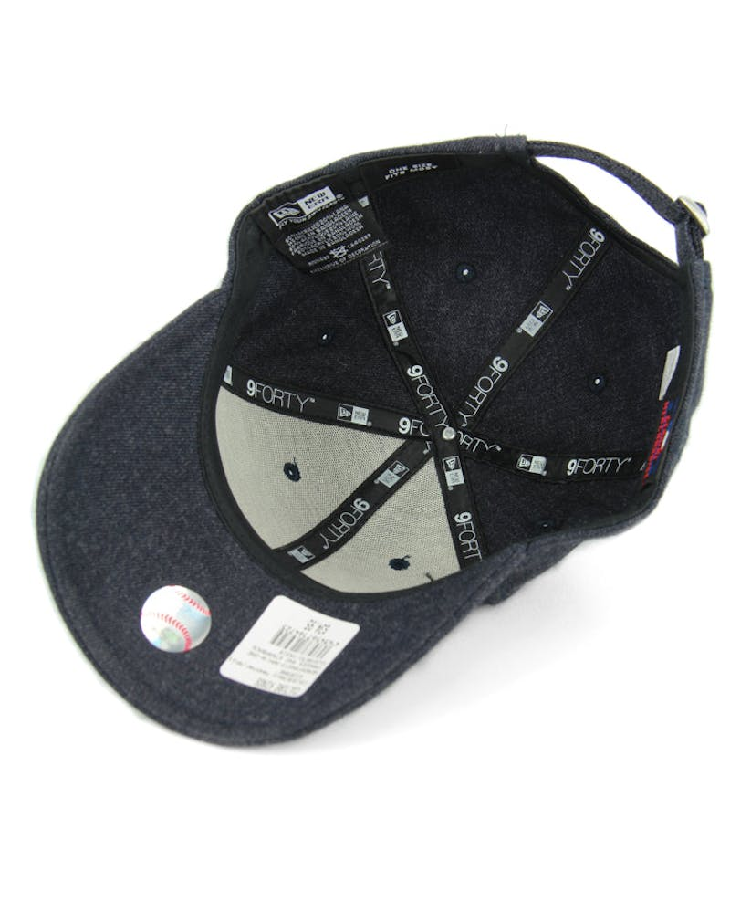New Era Yankees 9FORTY Strapback Navy Heather/wh