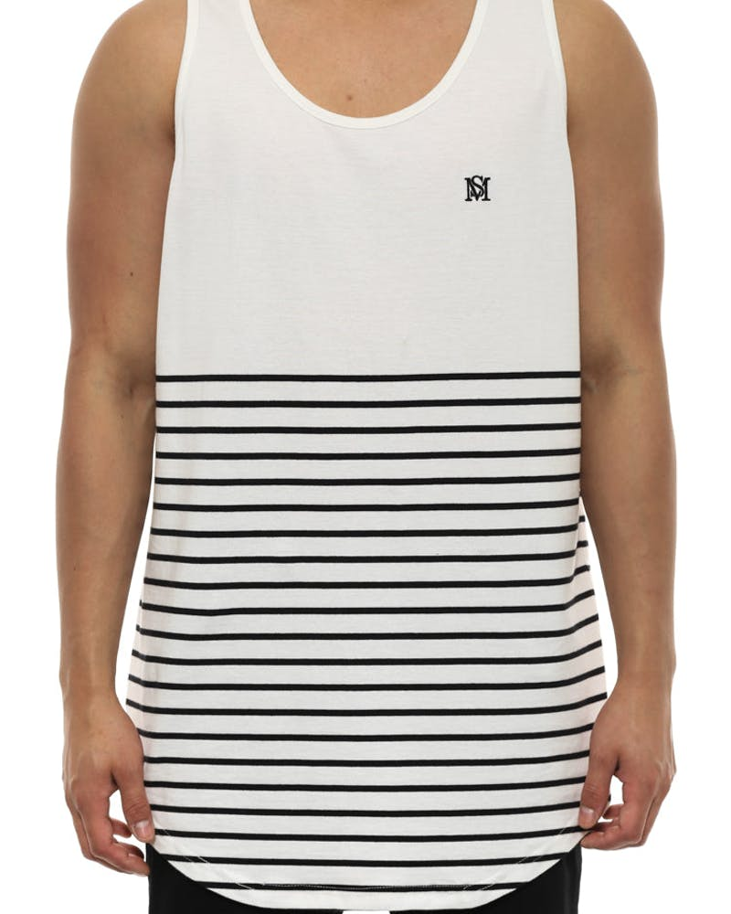 Ruler Tank White/black