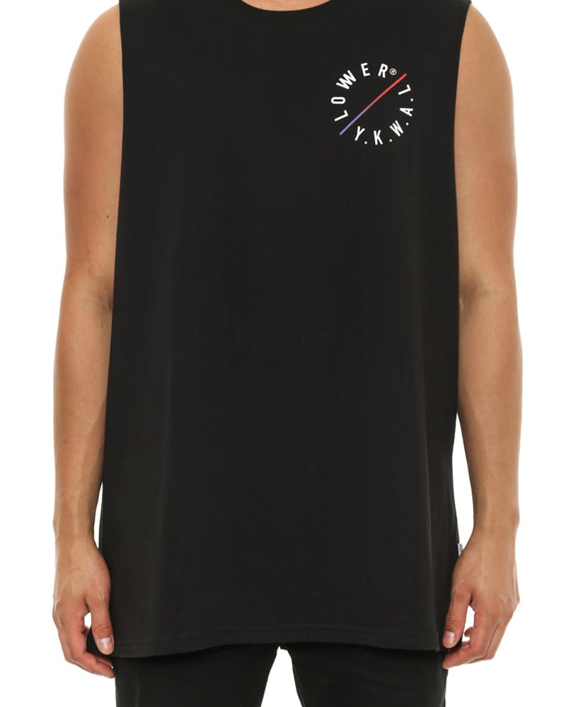 Slash Cut Tank Black