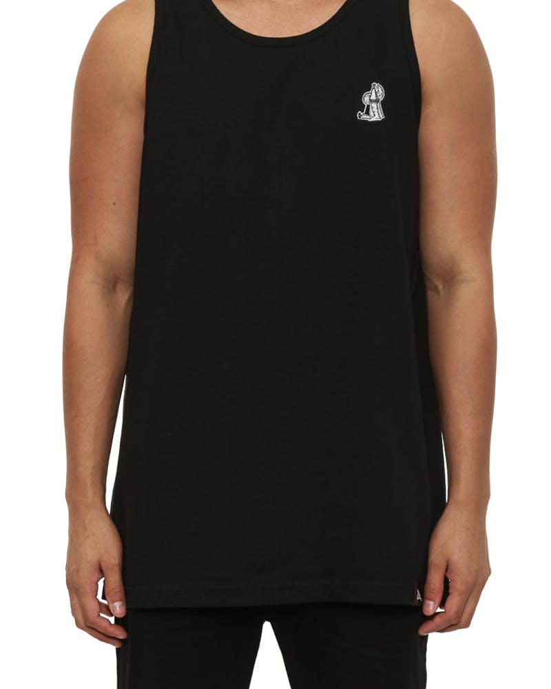Tipi Dreams Embr Singlet Black
