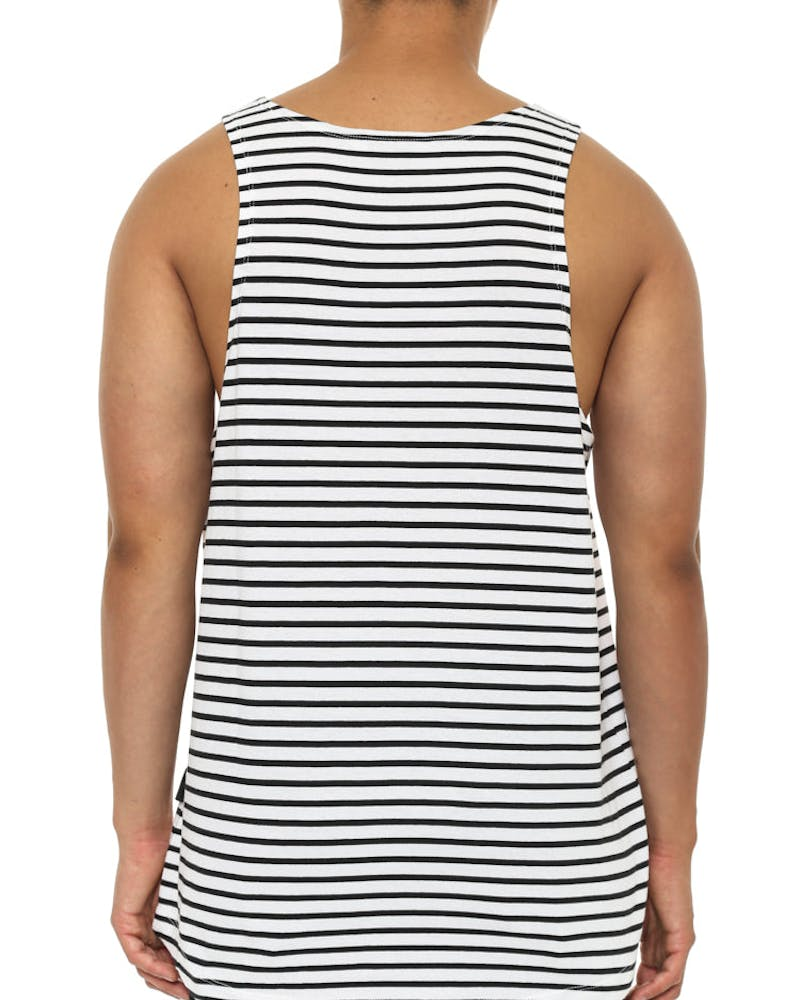 Norman Tank Black/white
