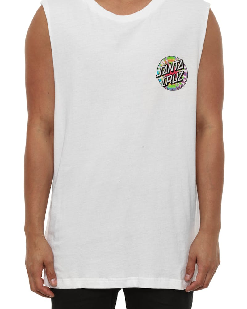 Screaming Tie Dye Hand Muscle White
