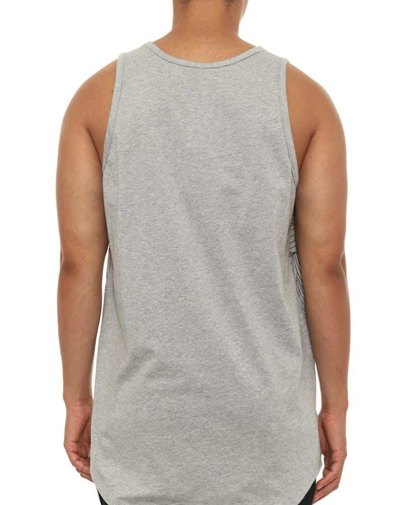 Linear Medusa Tank Top Grey
