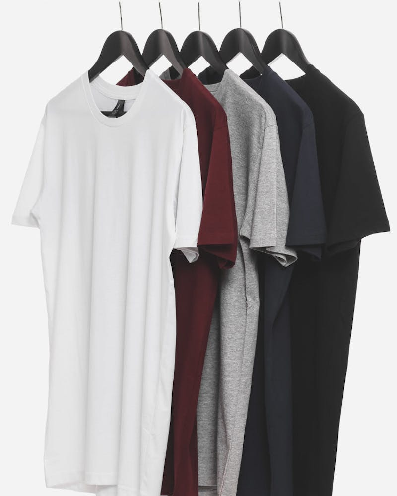 5 Essential Tall Tees Multi-coloured