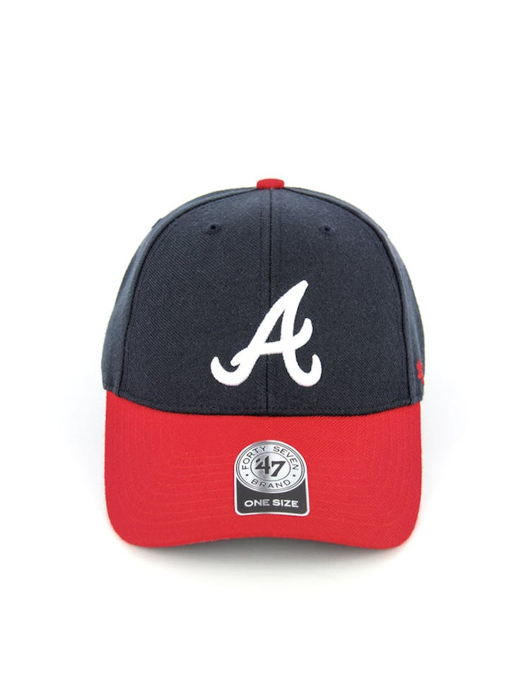 Braves Mvp Velcro Back Navy/red/white