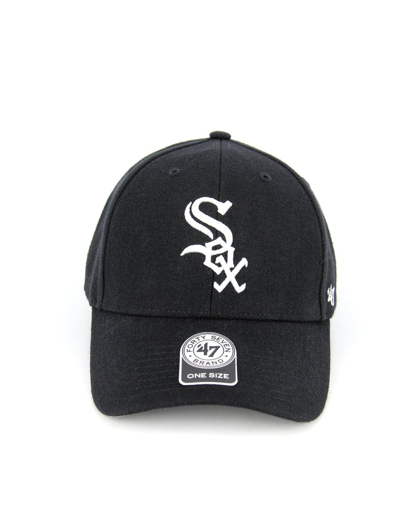 White Sox Mvp Velcro Back Black/white