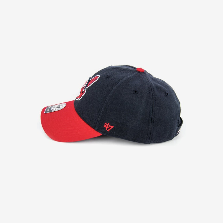 Indians Mvp Velcro Back Navy/red