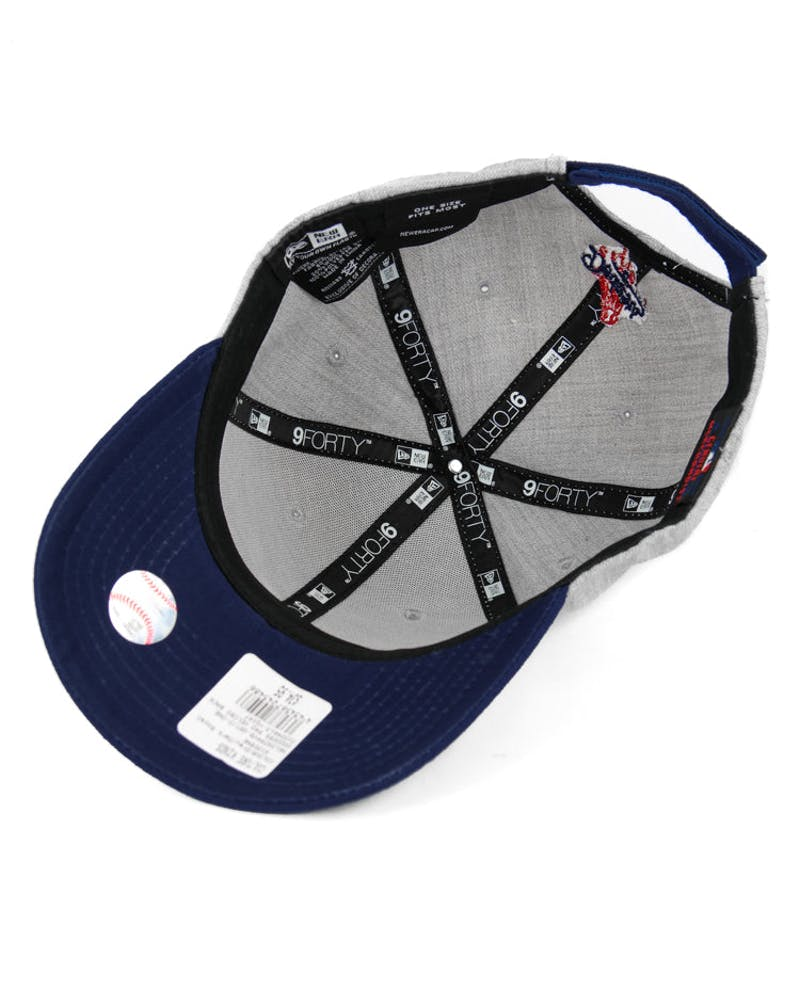 New Era Dodgers 9FORTY Velcro Back Grey/dark Royal