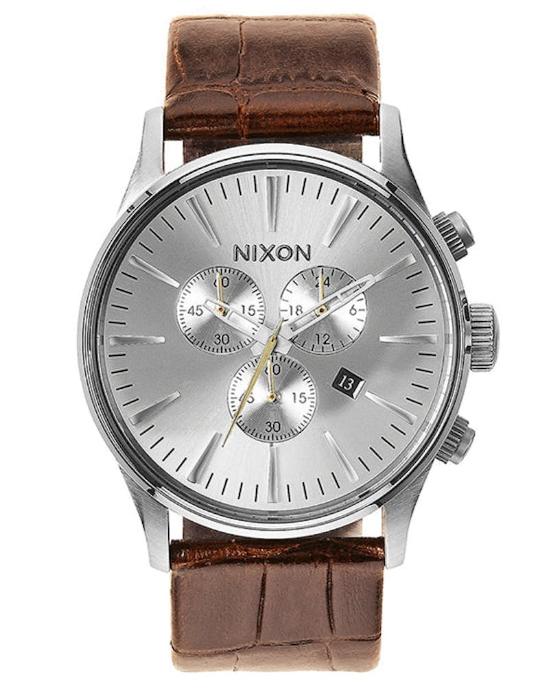 Sentry Chrono Leather Brown/silver